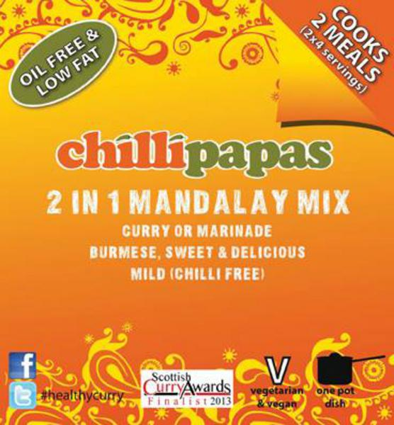 Chilli Papas 2 in 1 Mandalay Curry Mix 20g