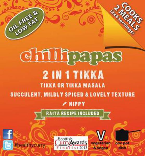 Chilli Papas 2 in 1 Tikka Curry Mix 27g