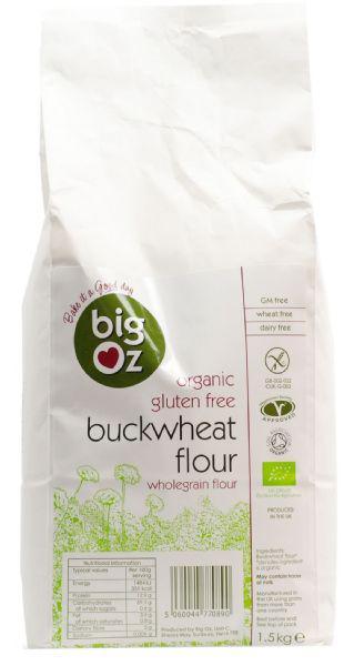 Organic Buckwheat Flour in 1.5kg from Big Oz