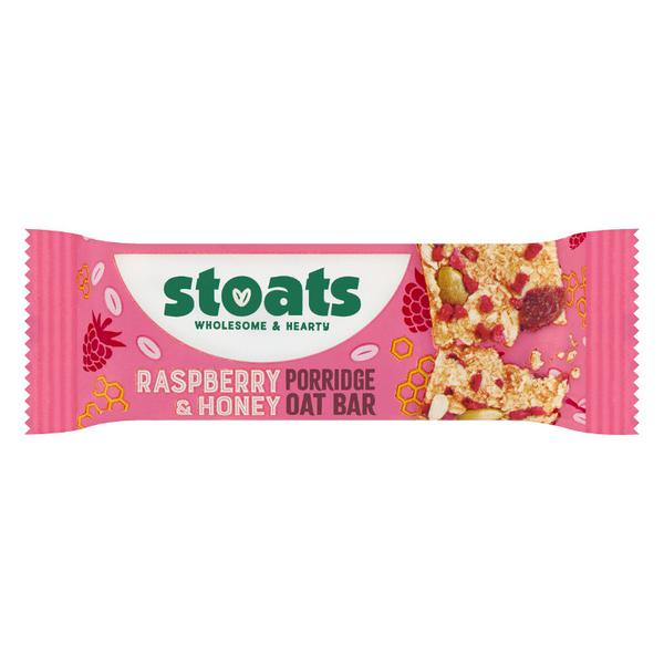 Raspberry & Honey Porridge Oat Snackbar