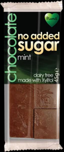 Chocolate with Mint 72% Gluten Free, no added sugar, Vegan