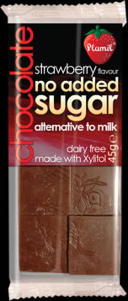 Strawberry Alternative to Milk Chocolate Gluten Free, no added sugar, Vegan