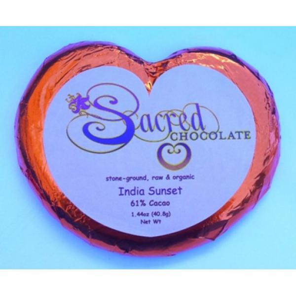 India Sunset Raw Chocolate Heart ORGANIC
