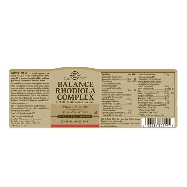Vegetable Capsules Rhodiola Complex Vegan image 2