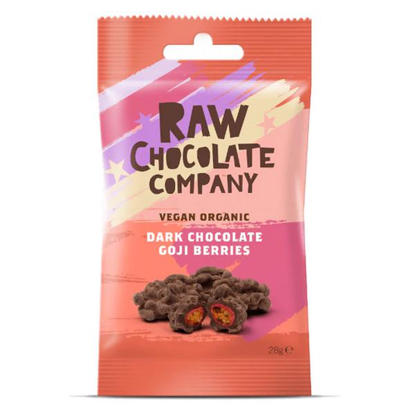 Chocolate Coated Raw Goji Berries No Gluten Containing Ingredients, Vegan, FairTrade, ORGANIC