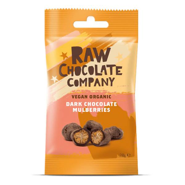 Raw Chocolate Coated Mulberries , FairTrade, ORGANIC