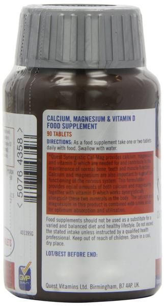 Balanced Cal-Mag Vitamin D Synergistic Gluten Free, yeast free image 2