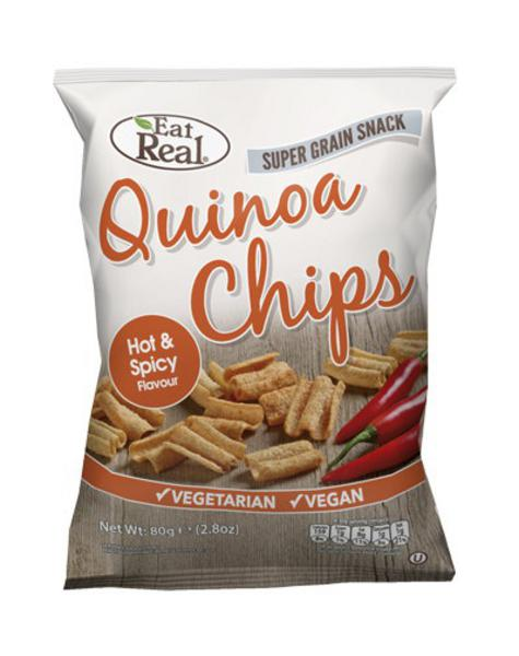 Hot & Spicy Quinoa Chips No Gluten Containing Ingredients, wheat free