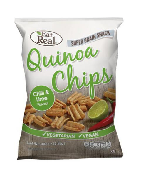 Chilli & Lime Quinoa Chips , wheat free