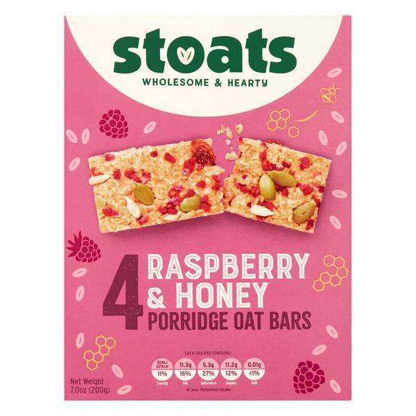 Raspberry & Honey Porridge Oat Snackbar Multipack