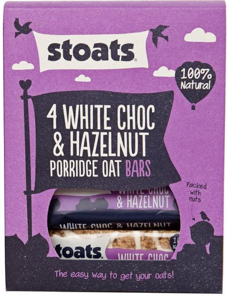 White Chocolate & Hazelnut Porridge Oat Snackbar Multipack