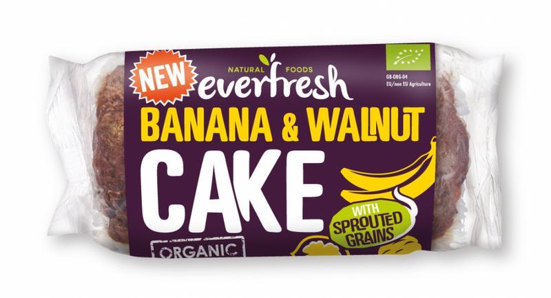 Sprouted Banana & Walnut Cake GMO free, no added sugar, ORGANIC
