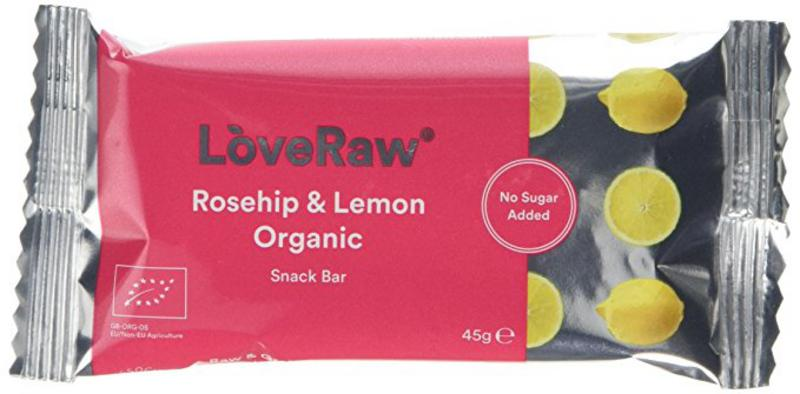Organic raw rosehip and lemon snackbar in 48g from loveraw for Raw food bars uk