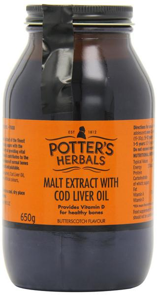 Butterscotch Malt Extract With Cod Liver Oil
