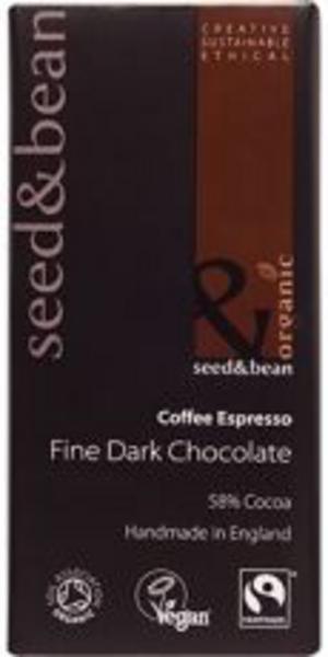 Dark Chocolate With Coffee Vegan, FairTrade, ORGANIC