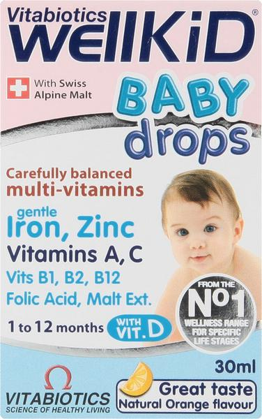 WellKid Baby Drops Contains sugar