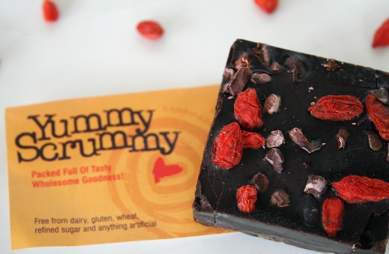 Arriba Brownie Raw Chocolate 'Yummy Scrummy' Gluten Free, Vegan, ORGANIC