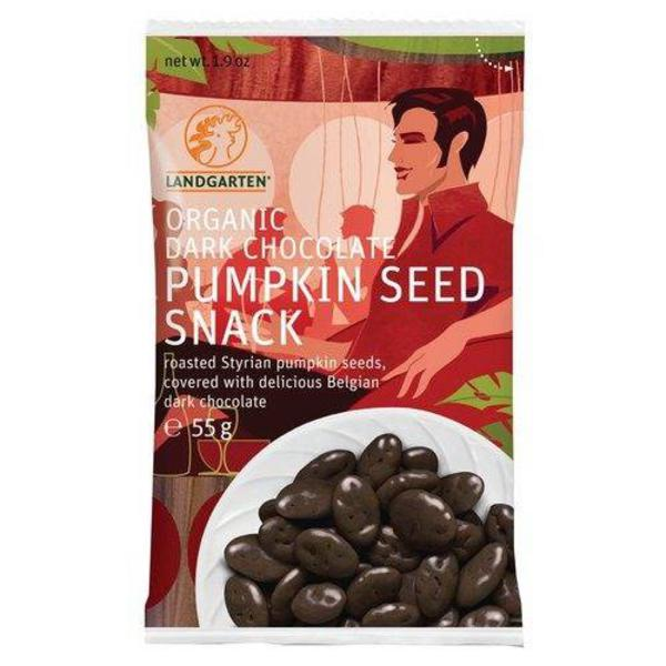 Dark Chocolate Coated Pumpkin Seeds Gluten Free, Vegan, ORGANIC