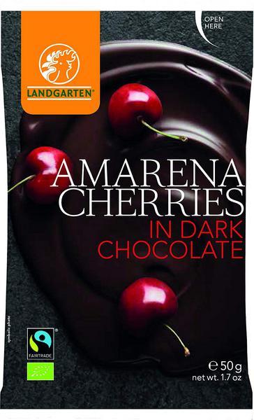 Dark Chocolate Coated Cherries Gluten Free, FairTrade, ORGANIC