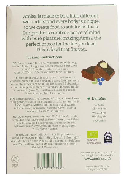 Brownie Mix Gluten Free, Vegan, ORGANIC image 2