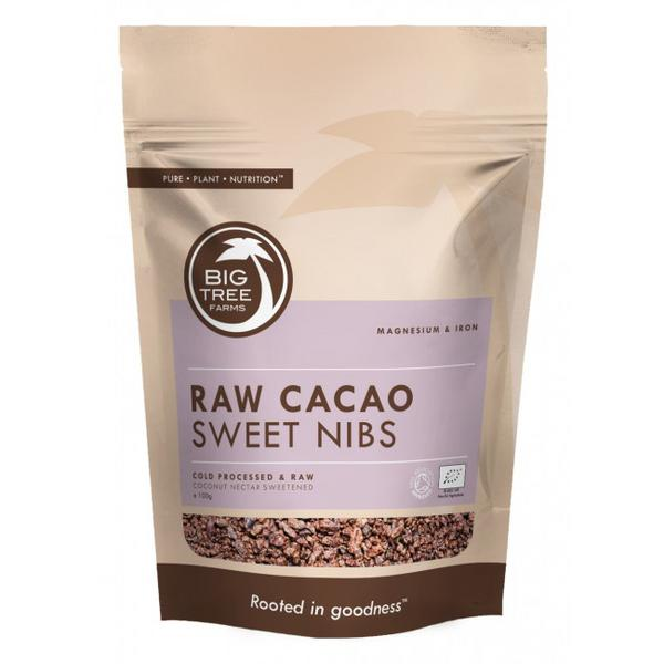 Truly Raw Cocoa Nectar Sweetened Cacao Nibs Vegan, ORGANIC