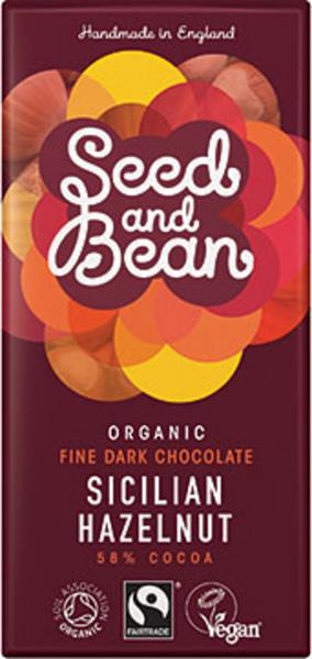 Fine Hazelnut Dark Chocolate 58% Vegan, FairTrade, ORGANIC