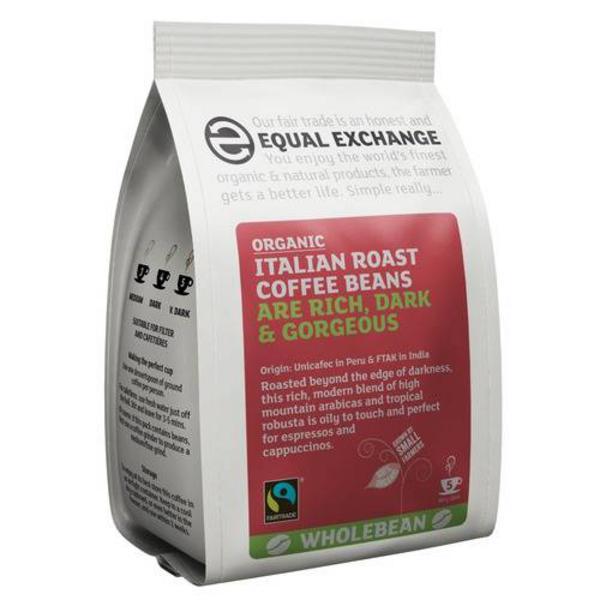 Italian Roast Coffee Beans FairTrade, ORGANIC