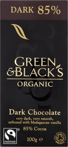 85% Dark Chocolate FairTrade, ORGANIC