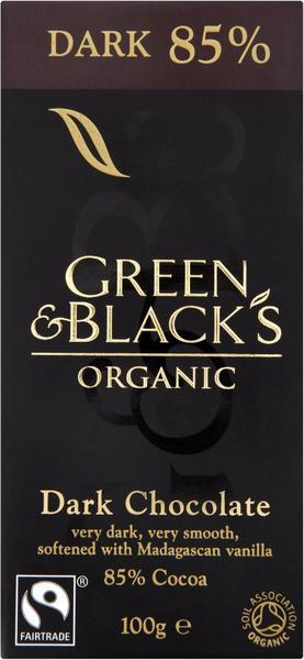 85% Dark Chocolate FairTrade, ORGANIC