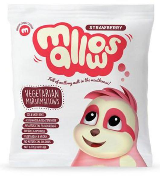 Strawberry Marshmallows dairy free, Vegan