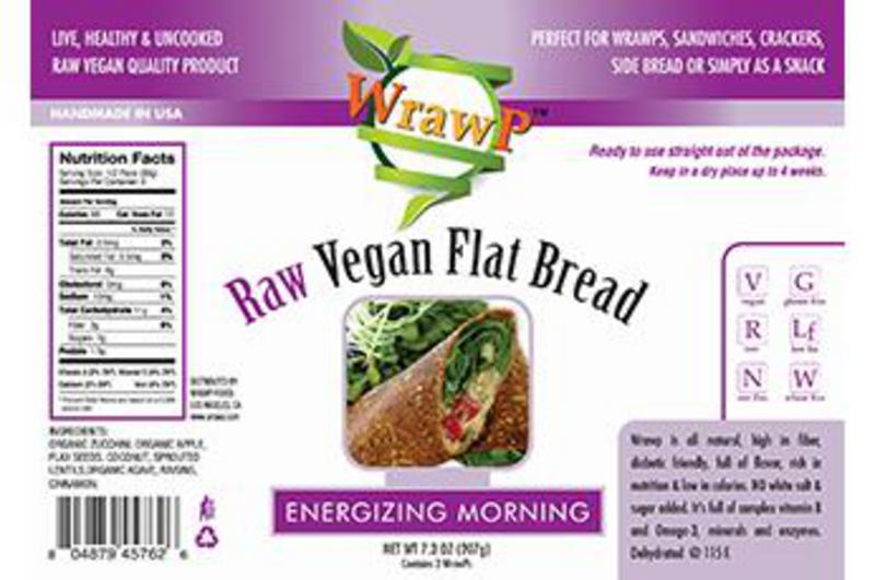 Energising Morning Raw Flatbread Gluten Free, Vegan, wheat free