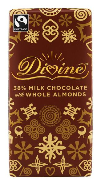 38% Milk Chocolate With Almonds FairTrade