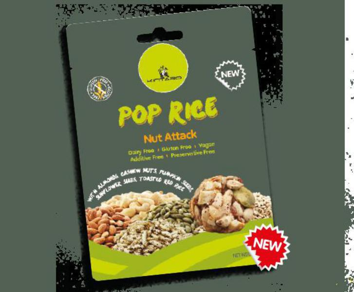 Nut Attack Popped Rice Gluten Free, Vegan