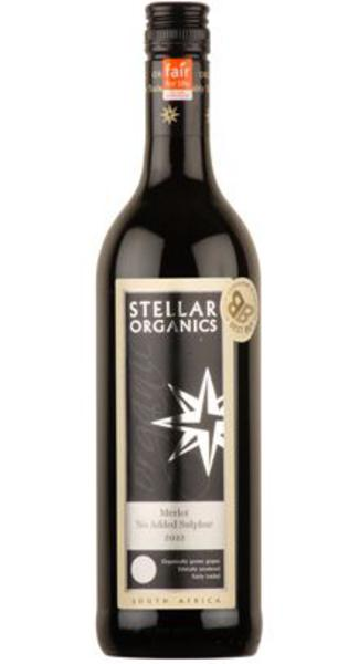 Red Wine Merlot South Africa No Added Sulphur FairTrade, ORGANIC