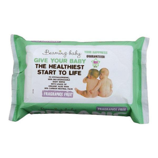 Fragrance Free Baby Wipes Vegan, ORGANIC