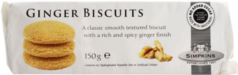 Ginger Biscuits no added sugar