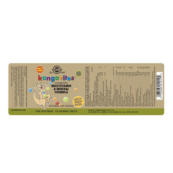 Kangavites Tropical Punch Multi Vitamins Chewable  image 2