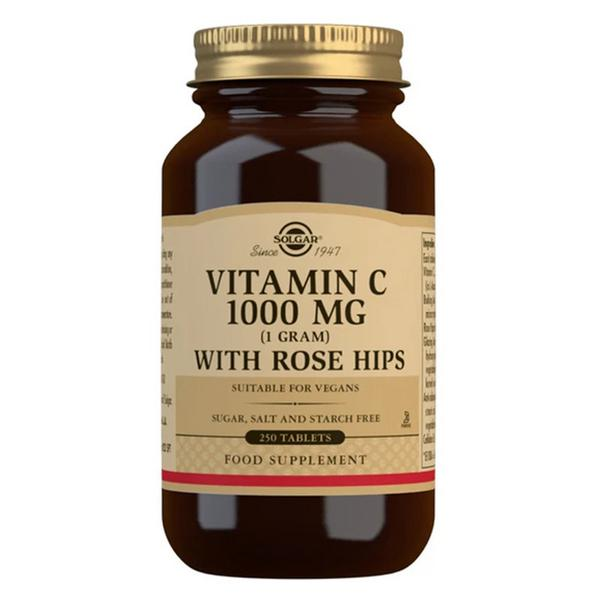 Vitamin C With Rosehip 1000mg dairy free, Gluten Free, wheat free