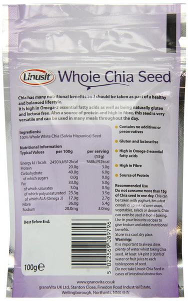 Linusit Whole Chia Seeds Gluten Free image 2