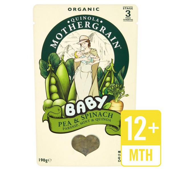 Pea,Spinach,Parsnip,Mint & Quinoa Baby Food Gluten Free, ORGANIC