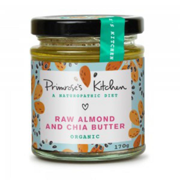 Raw Almond & Chia Nut Butter no added salt, sugar free, ORGANIC