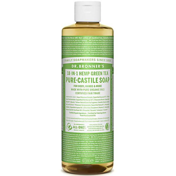 Green Tea Castile Liquid Soap Vegan, FairTrade, ORGANIC