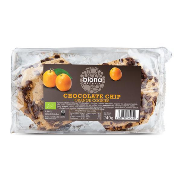 Choc Chip Orange Cookies Vegan, ORGANIC