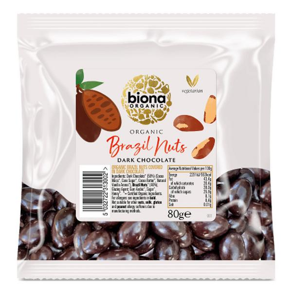 Dark Chocolate Brazil Nuts ORGANIC