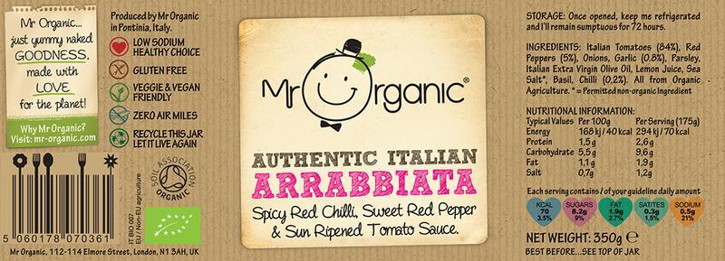 Chilli Arrabbiata Pasta Sauce Vegan, ORGANIC image 2