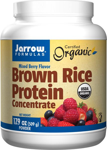Mixed Berry Brown Rice Protein Supplements no added sugar, Vegan, ORGANIC
