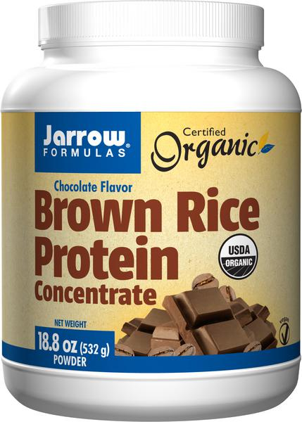Chocolate Brown Rice Protein Supplements no added sugar, Vegan, ORGANIC