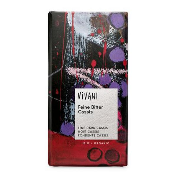 Dark Chocolate Filled With Cassis ORGANIC