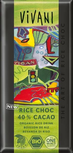 Rice Milk Cocoa Chocolate Vegan, ORGANIC