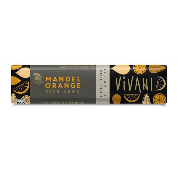 Almond & Orange Rice Milk Chocolate Vegan, ORGANIC